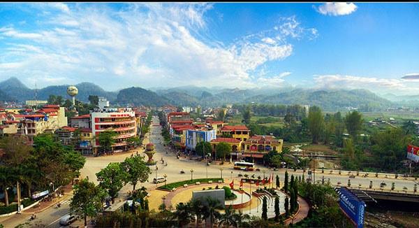 Thành phố Sơn La nhìn từ trên cao