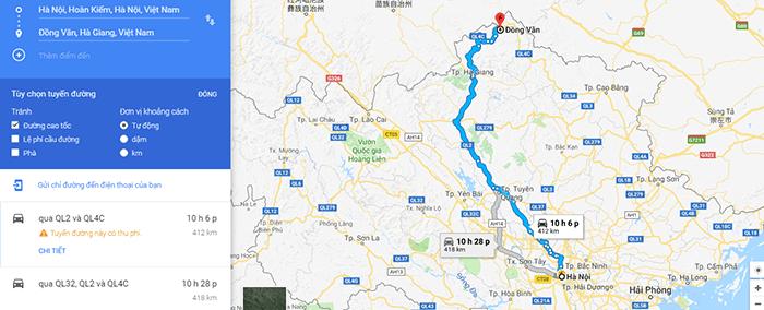 Cung đường đi phượt Đồng Văn từ Hà Nội