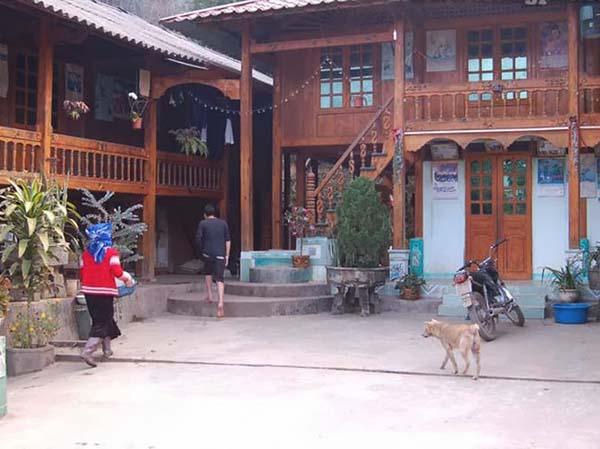 Một trong những nhà có dịch vụ homestay cho du khách