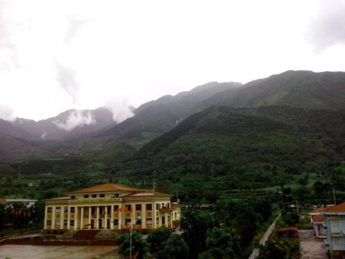 Thị trấn Tam Đường ngày mưa gió