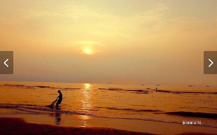 Hoàng hôn trên biển Cồn Vành, Thái Bình