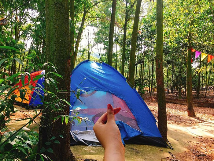 Cắm trại ở My Hill, hồ Đồng Quan