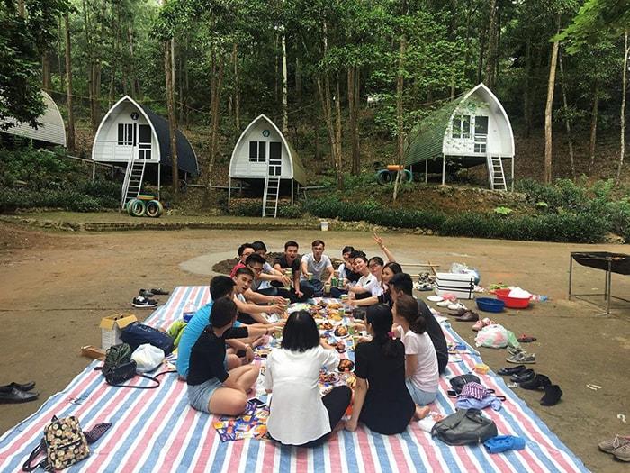 Cắm trại, dã ngoại ở Sơn Tinh Camp