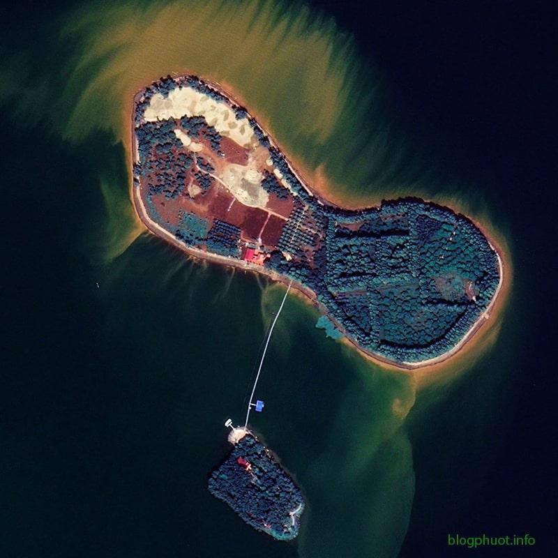 Đảo Ó, Đồng Nai nhìn từ trên cao