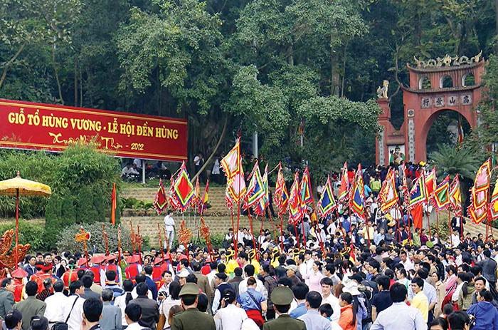 Giỗ tổ Hùng Vương ở Phú Thọ ngày 10 tháng 3 âm lịch