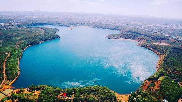 Biển Hồ Gia Lai nhìn từ trên cao