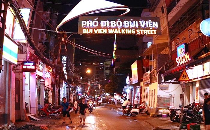 Phố đi bộ Bùi Viện ở Sài Gòn