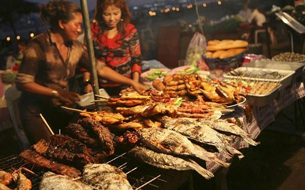Đồ ăn ở Lào cũng rất phong phú
