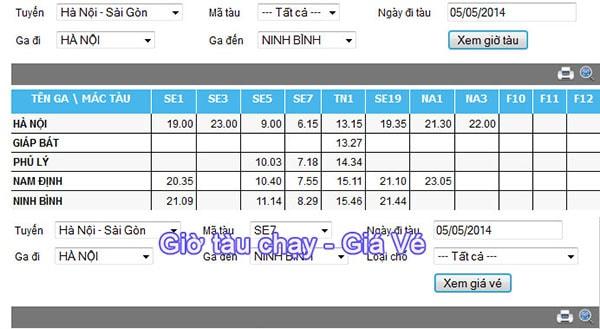 Tuyến tàu hỏa từ Hà Nội đi Ninh Bình
