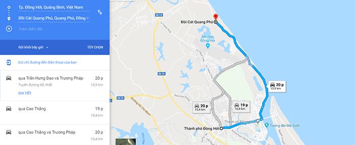 Đường ra đồi cát Quang Phú