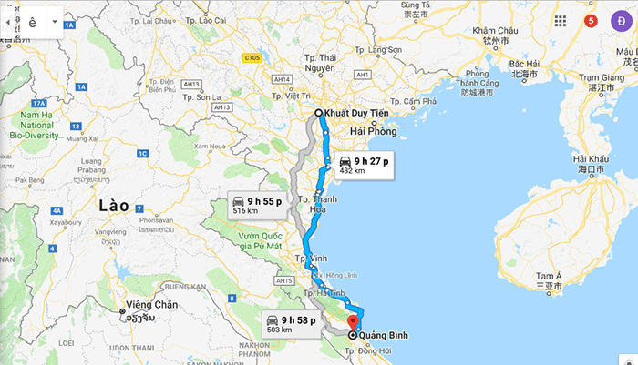 Cung đường phượt xe máy Hà Nội - Quảng Bình