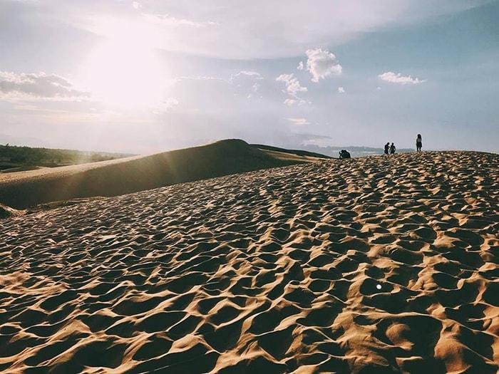 Cồn cát Quang Phú rực rỡ trong ánh nắng