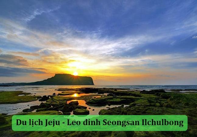 Du lịch Jeju Hàn Quốc - Leo đỉnh Seongsan Ilchulbong