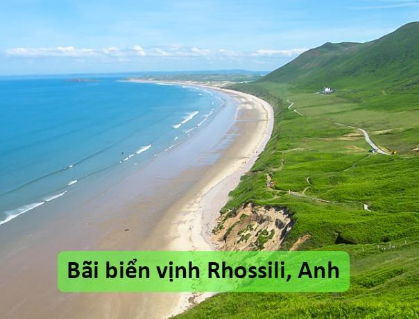 Bãi biển vịnh Rhossili, Anh