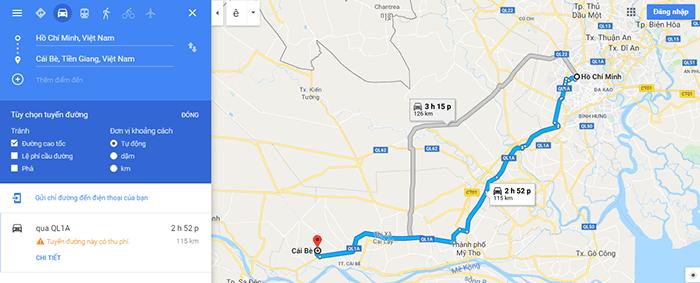 Đường đi vườn trái cây Cái Bè, Tiền Giang
