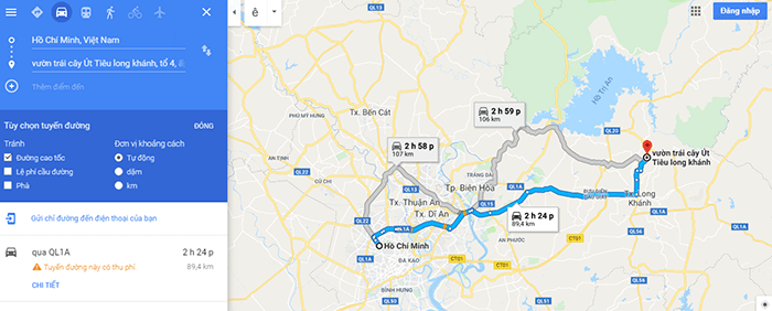 Đường đi vườn trái cây Út Tiêu, Long Khánh, Đồng Nai