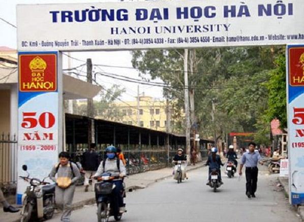 Cổng trường đại học Hà Nội