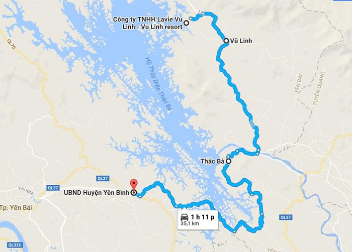 Làng Ngòi Tu cách trung tâm Huyện Yên Bình khoảng 35km