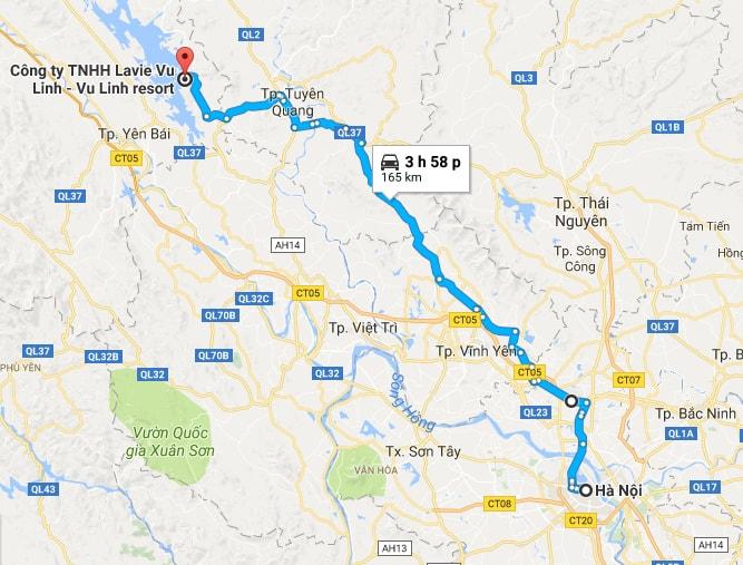 Tuyến đường đi xe máy từ Hà Nội lên Làng Ngòi Tu
