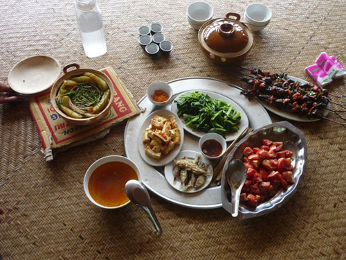 Một số món ăn tại Ngòi Tu