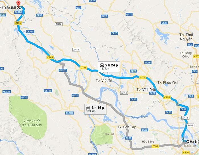 Từ Hà Nội có thể tới Yên Bái bằng phương tiện gì