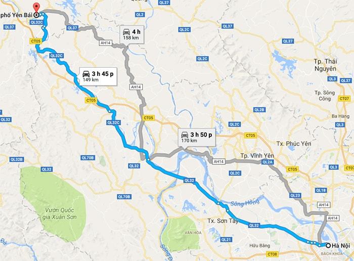 Từ Hà Nội có thể sử dụng phương tiện gì đi Yên Bái