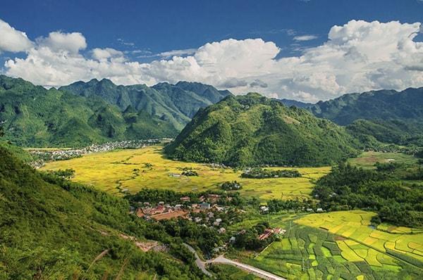 Những ruộng lúa nếp nương trải bao quanh cả một vùng thung lũng