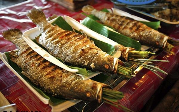 Món cá nướng sông Đà thơm ngon, thịt chắc