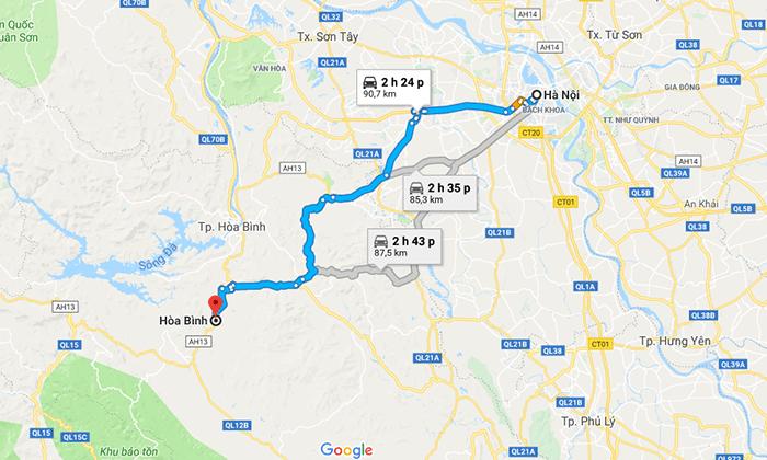 Cung đường từ Hà Nội đến Hòa Bình