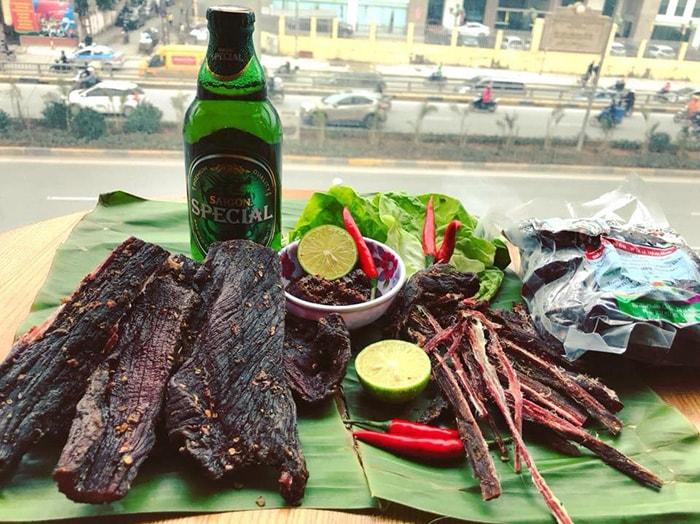 Đặc sản thịt trâu gác bếp Hà Giang