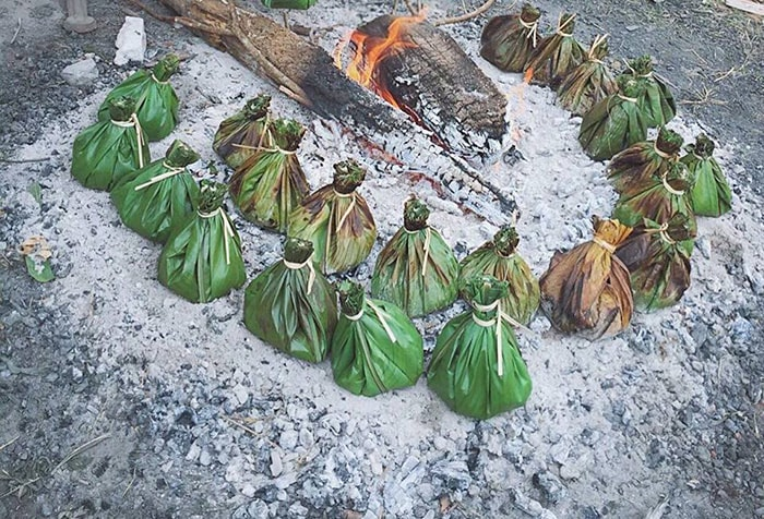 Rêu nướng - Đặc sản của dân tộc Tày