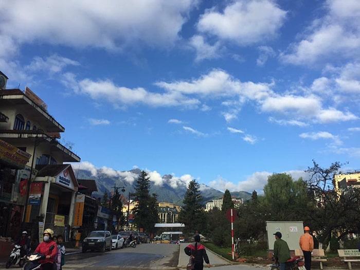 Thị trấn Sapa ngày bình thường
