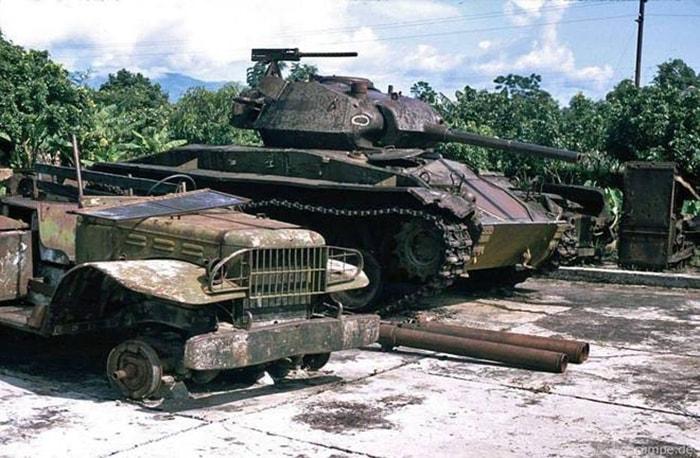 Mẫu xe tăng trong bảo tàng lịch sử Điện Biên