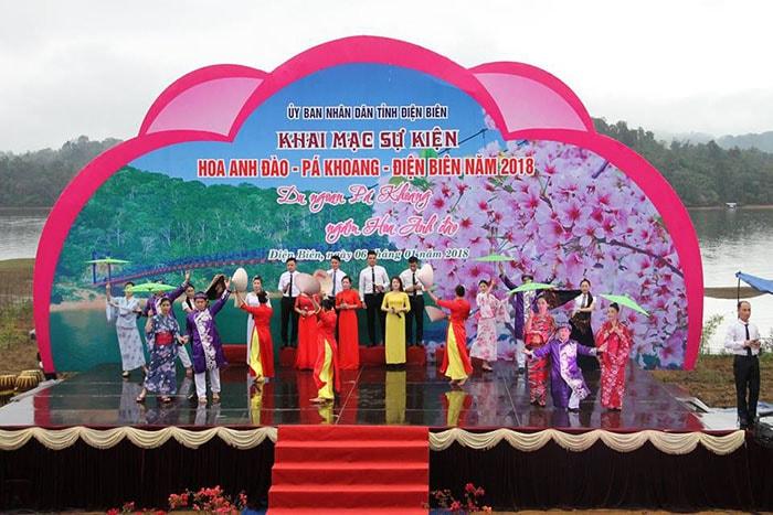 Sự kiện hoa anh đào - Pá Khoang - Điện Biên