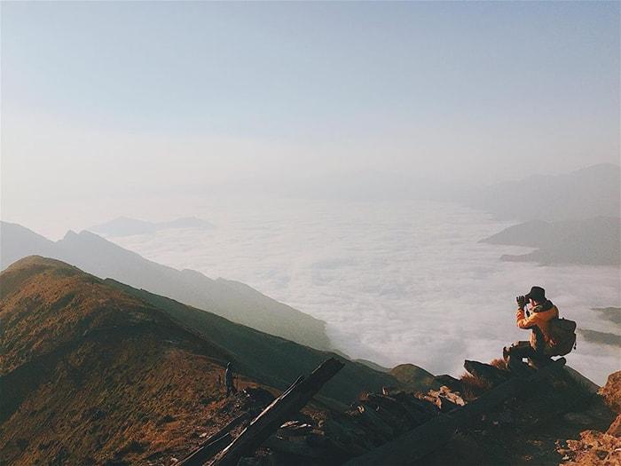 Ngắm biển mây trên đỉnh Tà Chì Nhù