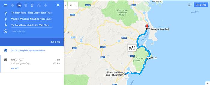 Đường ven biển Phan Rang – Vĩnh Hy - Cam Ranh