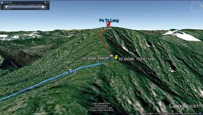 Đỉnh Pu ta leng trên google map