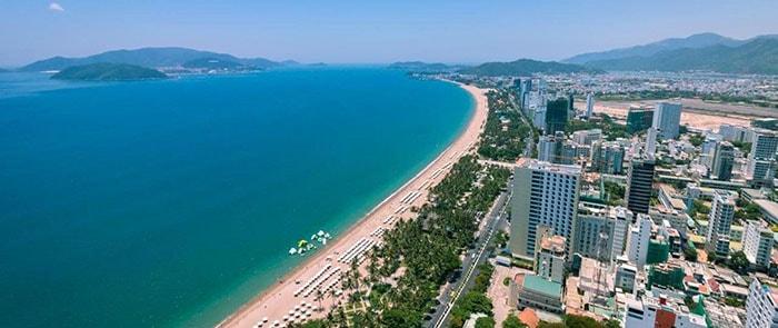 Bãi biển ở thành phố Nha Trang