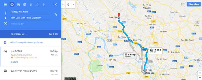 Cung đường Hà Nội – Tam Đảo