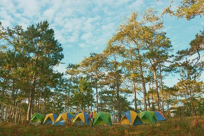 Cắm trại khi đi trekking Bidoup - Núi Bà