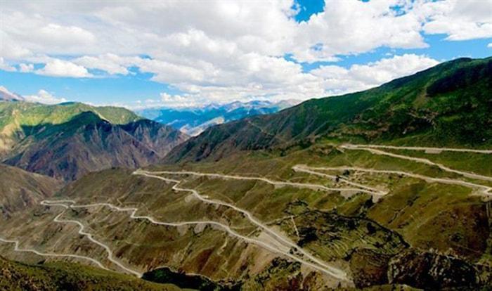 Đường cao tốc Tứ Xuyên - Tây Tạng (Sichuan-Tibet Highway, China)
