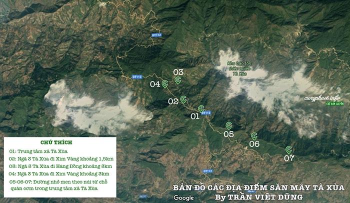 Bản đồ săn mây Tà Xùa