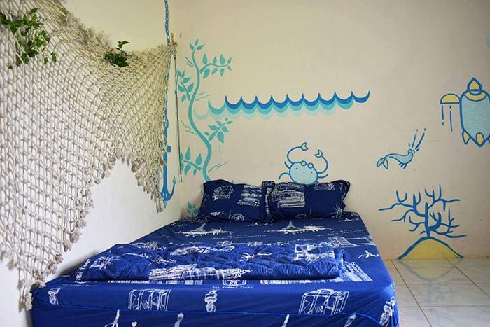 Giường ngủ ở Bụi homestay - LaGi