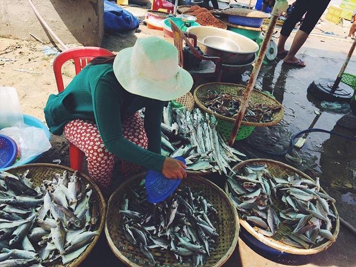 Chợ hải sản ở LaGi, Bình Thuận