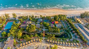 Khu du lịch Coco beach camp nhìn toàn cảnh từ trên cao