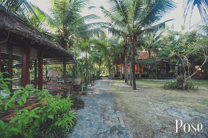 Không gian xanh mát ở Coco homestay LaGi