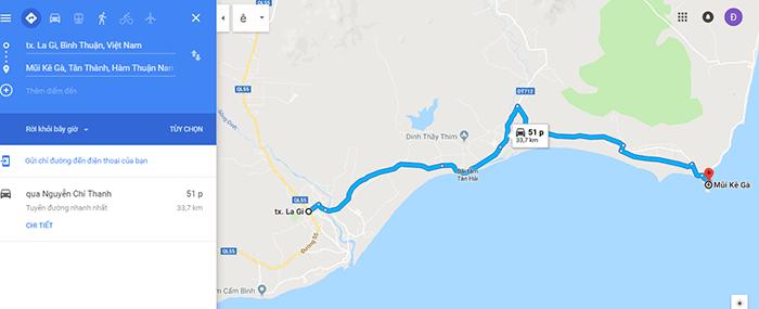 Cung đường từ thị xã LaGi đến mũi Kê Gà