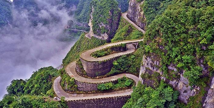Đường lên Thiên Môn sơn, Trung Quốc