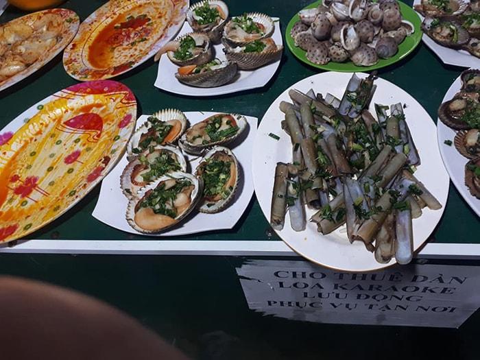 Các món hải sản đa dạng ở LaGi