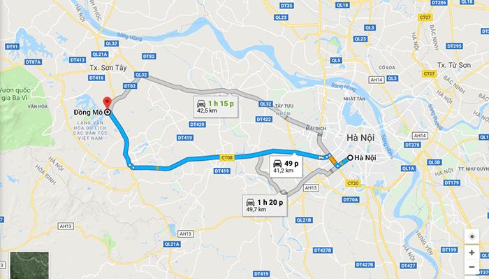 Cung đường từ Hà Nội lên Đồng Mô